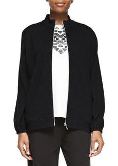 Joan Vass Mock-Neck Zip-Front Jacket, Women's