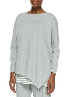 Joan Vass Oversized Asymmetric Cotton Top, Petite