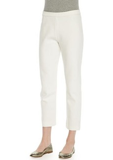 Joan Vass Ponte Slim Ankle Pants, Women's