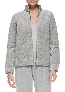 Joan Vass Quilted Velour Jacket, Women's