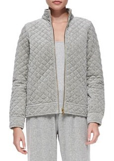 Joan Vass Quilted Velour Jacket, Women's