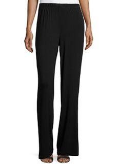 Joan Vass Relaxed Wide-Leg Pants, Black