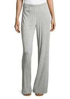Joan Vass Relaxed Wide-Leg Pants, City Gray