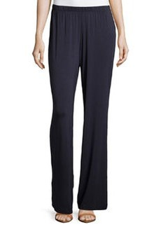 Joan Vass Relaxed Wide-Leg Pants, Navy Mariner
