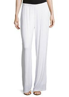 Joan Vass Relaxed Wide-Leg Pants, White Mariner