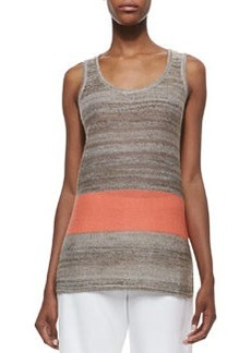Joan Vass Serape Striped Knit Tank, Petite