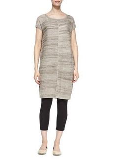 Joan Vass Short-Sleeve Linen-Blend Tunic, Petite