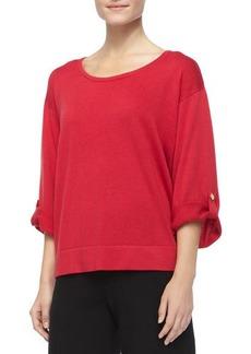 Joan Vass Silk Cashmere Pullover Top, Petite