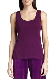 Joan Vass Sleeveless Cotton Scoop-Neck Tank