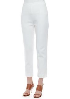 Joan Vass Slim Ponte Ankle Pants, Women's