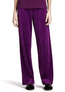 Joan Vass Solid Velour Pants