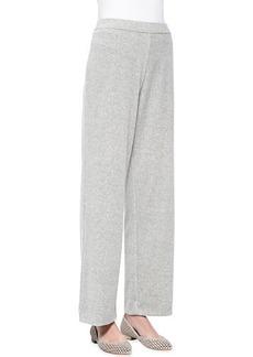 Joan Vass Solid Velour Pants, Petite
