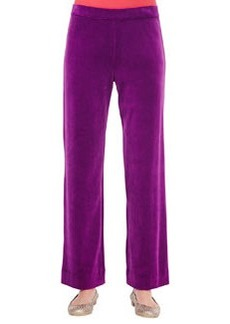 Joan Vass Solid Velour Pants, Women's