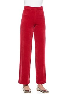 Joan Vass Solid Velour Pants, Women's