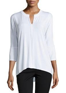 Joan Vass Split-Neck Oversized Tee, Timeless White