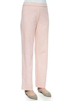 Joan Vass Stretch Interlock Pants, Petite