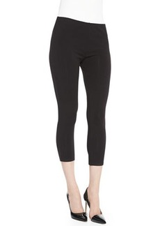 Joan Vass Stretch-Knit Cropped Leggings