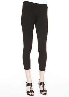 Joan Vass Stretch-Knit Cropped Leggings, Women's