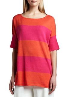 Joan Vass Striped Boxy Sweater, Women's