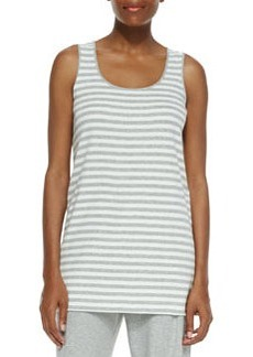 Joan Vass Striped Cotton Tank, Petite