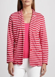 Joan Vass Striped Knit Jacket, Petite