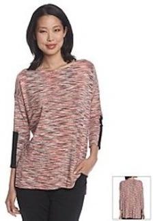 Joan Vass® Three-Quarter Sleeve Stripe Top