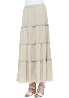 Joan Vass Tiered Peasant Jersey Skirt, Women's