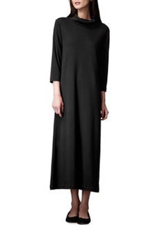 Joan Vass Turtleneck Maxi Dress, Black