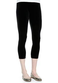 Joan Vass Velour Cropped Leggings, Petite