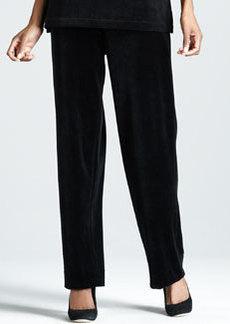 Joan Vass Velour Pants, Women's