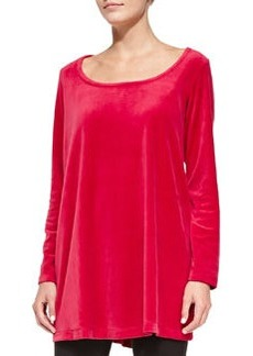 Joan Vass Velour Trapeze Tunic, Women's