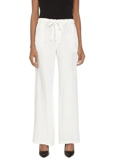 Joan Vass Wide-Leg Drawstring Pants