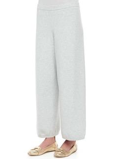 Joan Vass Wide-Leg Knit Pants, Petite