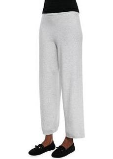 Joan Vass Wide-Leg Knit Pants, Women's