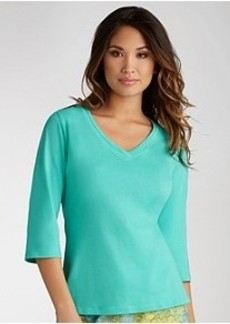 Jockey 3/4 Sleeve Knit Sleep Top