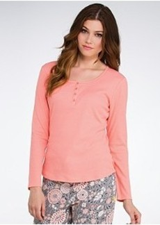 Jockey Blooming Cosmos Henley Knit Sleep Top