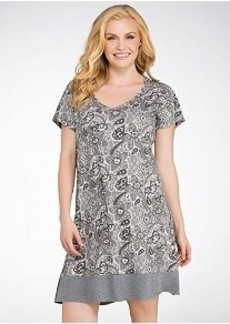 Jockey Blooming Cosmos Knit Sleep Shirt Plus Size