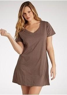 Jockey Dancing Dot Knit Sleep Shirt Plus Size