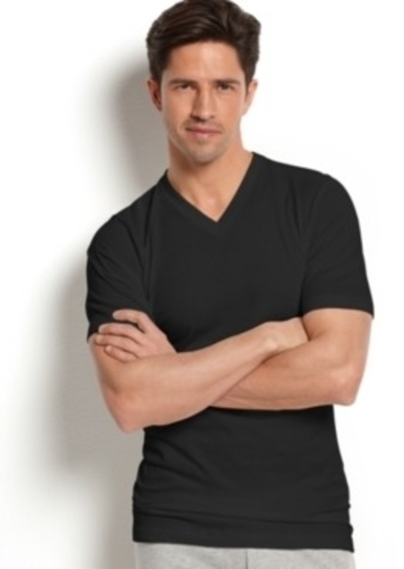 Jockey jockey men 39 s slim fit v neck t shirt intimates for Jockey t shirts sale