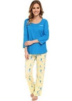 Jockey Mystic Bay L/S Top w/ Sailboats Printed Pant Pajama Set