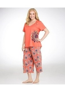 Jockey Pacific Isles Knit Capri Pajama Set Plus Size