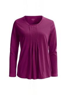 Jockey Pleated Lounge Shirt - Long Sleeve (For Women)