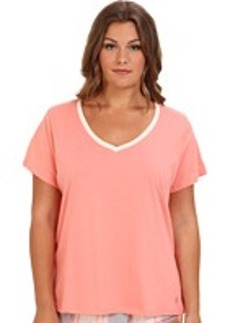 Jockey Plus Size Blooming Cosmos S/S V-Neck Top