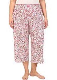 Jockey Plus Size Spring Pop Floral Capri Pant
