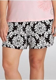 Jockey Spring Poetry Knit Boxer Pajama Shorts Plus Size