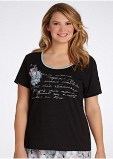 Jockey Spring Poetry Screenprint Knit Sleep Top Plus Size