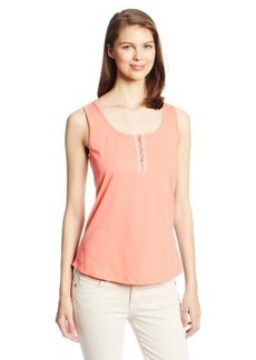 Jockey Women's Henley Tank with Embroidered Placket