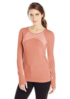 Jockey Women's Linear Melange Seamless Long Sleeve Top