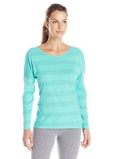Jockey Women's Mesh Stripe Burnout Yoga Top