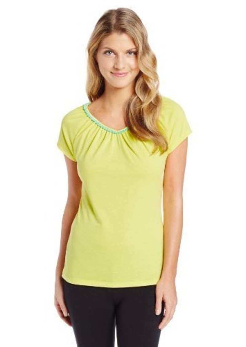 Jockey Women's Petite Flutter Sleeve Top